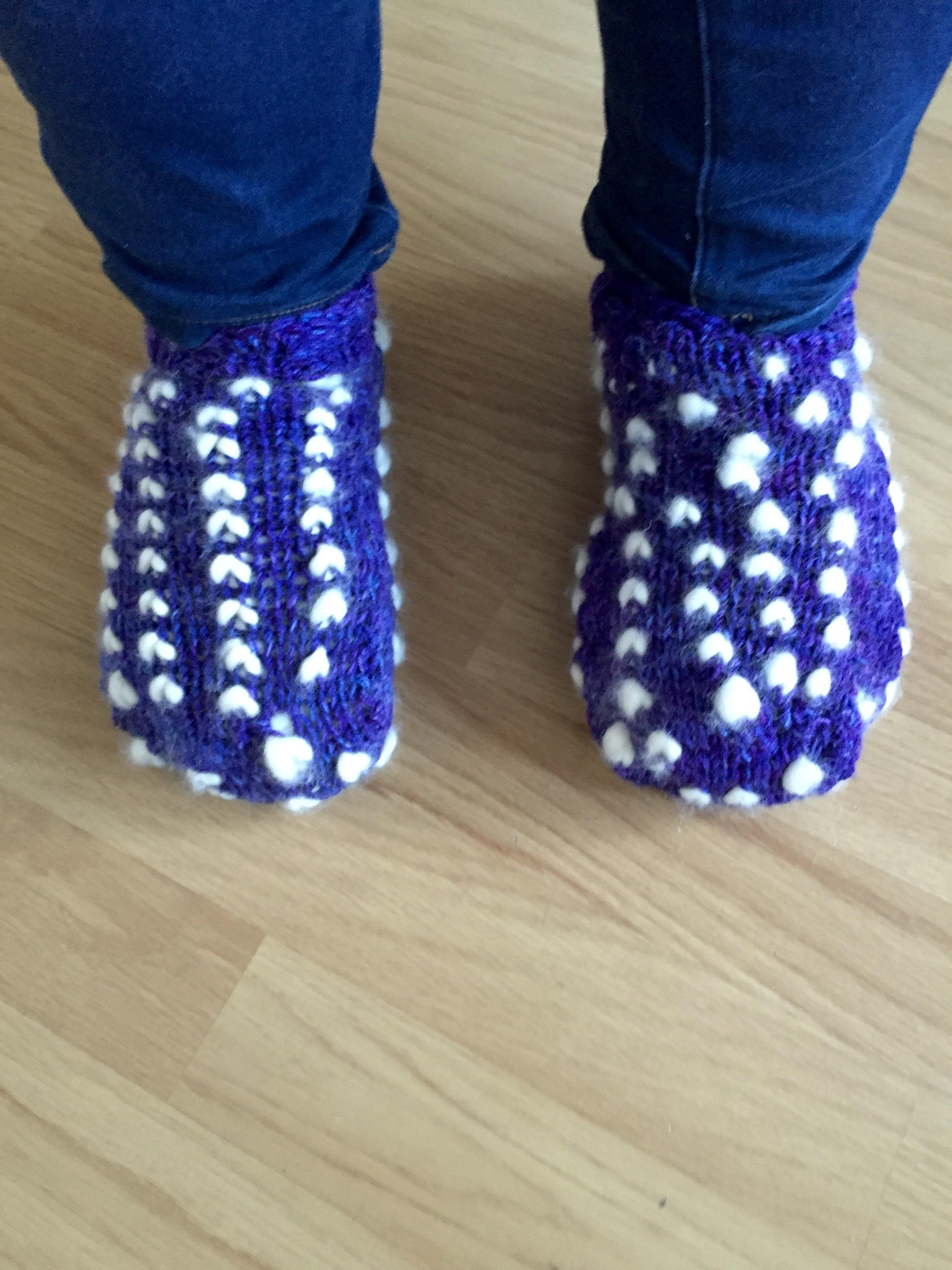 thrummed slippers in knitting