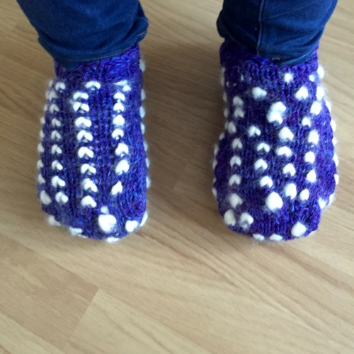 thrummed slippers in knitting