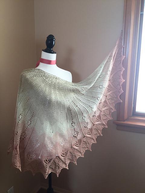 lace wedding shawl knitting pattern