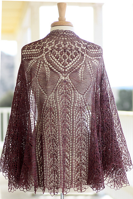 lace wedding shawl pattern
