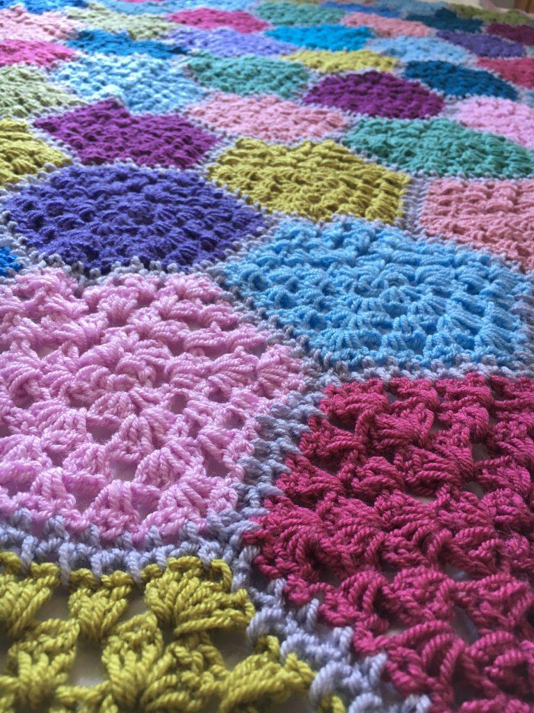 cobblestone crochet blanket