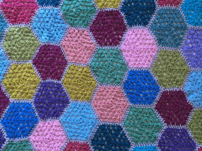 colour crochet blanket