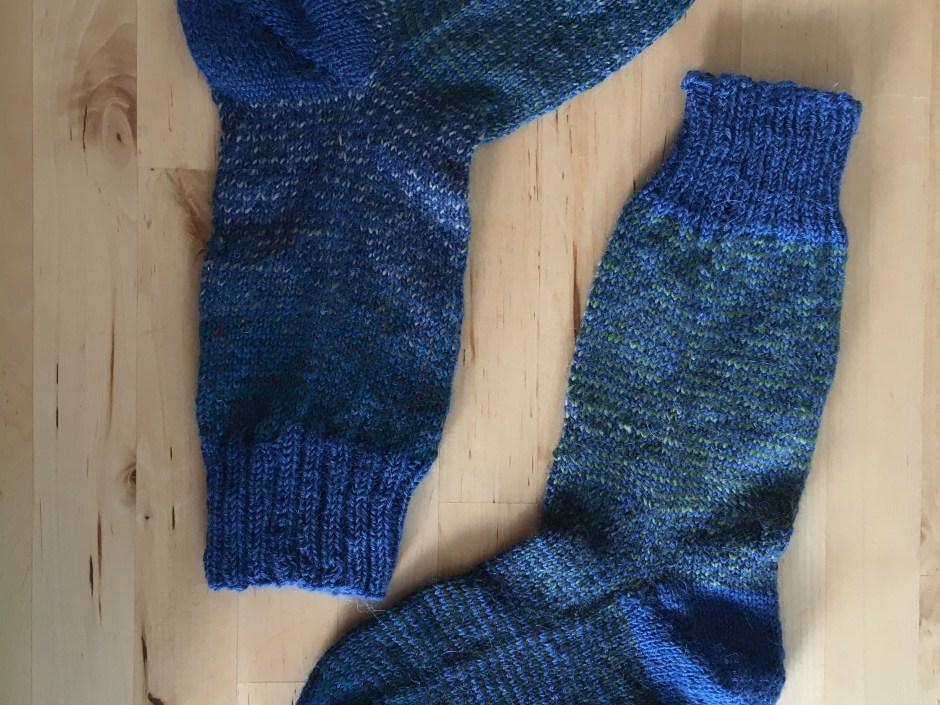 Socks with fish lips kiss heel