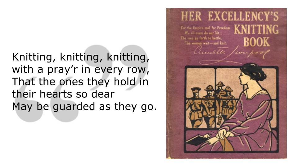 Knitting is good for you - it's like praying