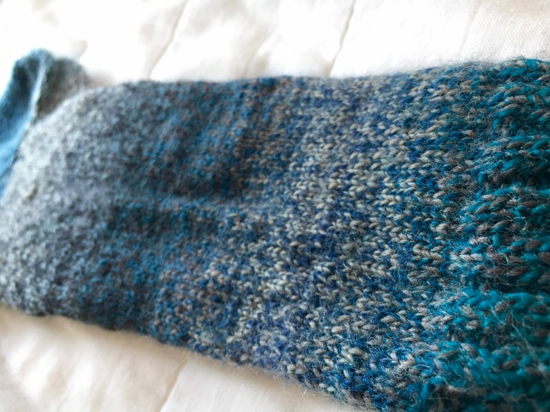 the only good thing about christmas knitting stress is trying fancy yarns!