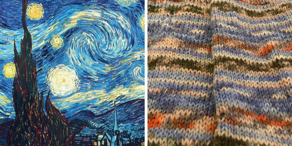 Opal Sock Yarn in Starry Night
