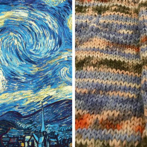 Opal Sock Yarn in Starry Night
