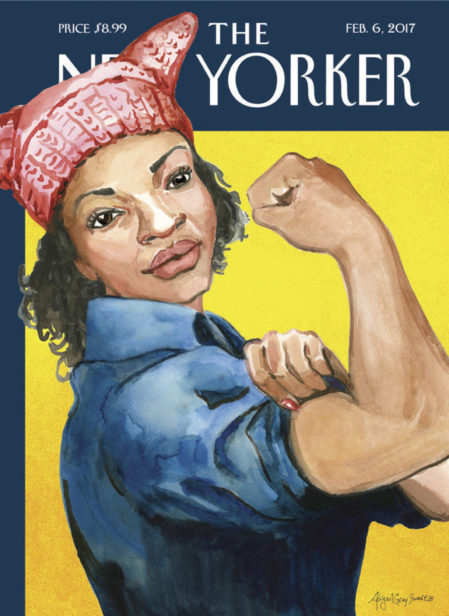 pussy hat on the cover of the new yorker