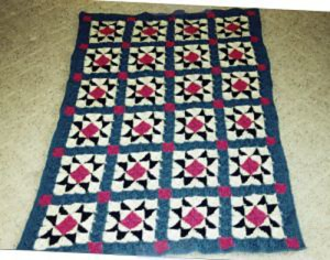 Crochet pattern based on a traditional quilt pattern