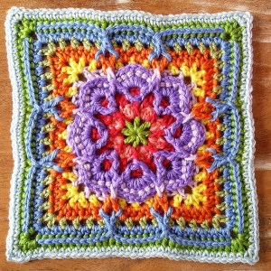 Lucky Thirteen Granny Square Afghan Block