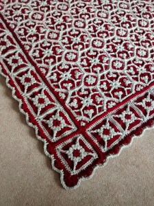 Rose and Ivy complicated crochet afghan