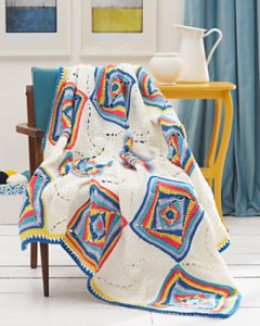 Unusual granny square crochet blanket pattern