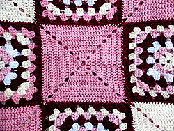 combining solid and traditional granny squares