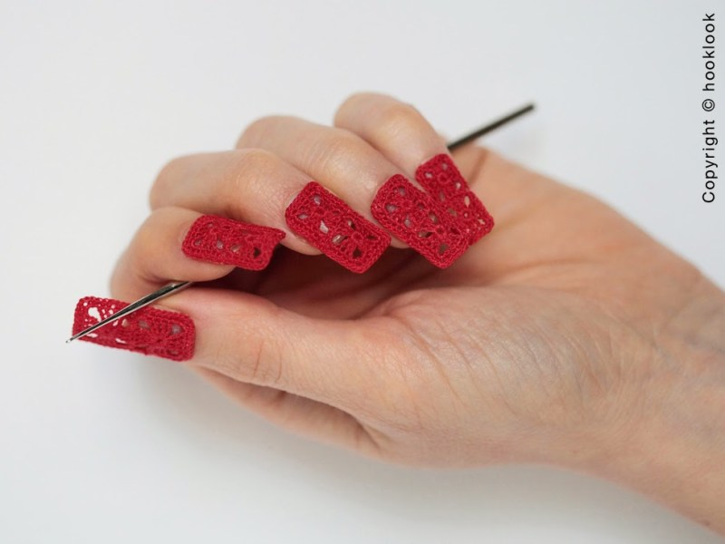 crochet granny square nail art