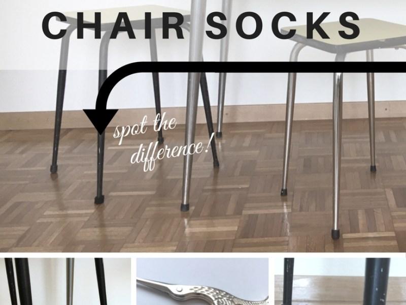 DIY easy crochet chair socks