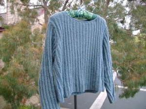 Ribbed sweater - a copy of high fashion knitwear