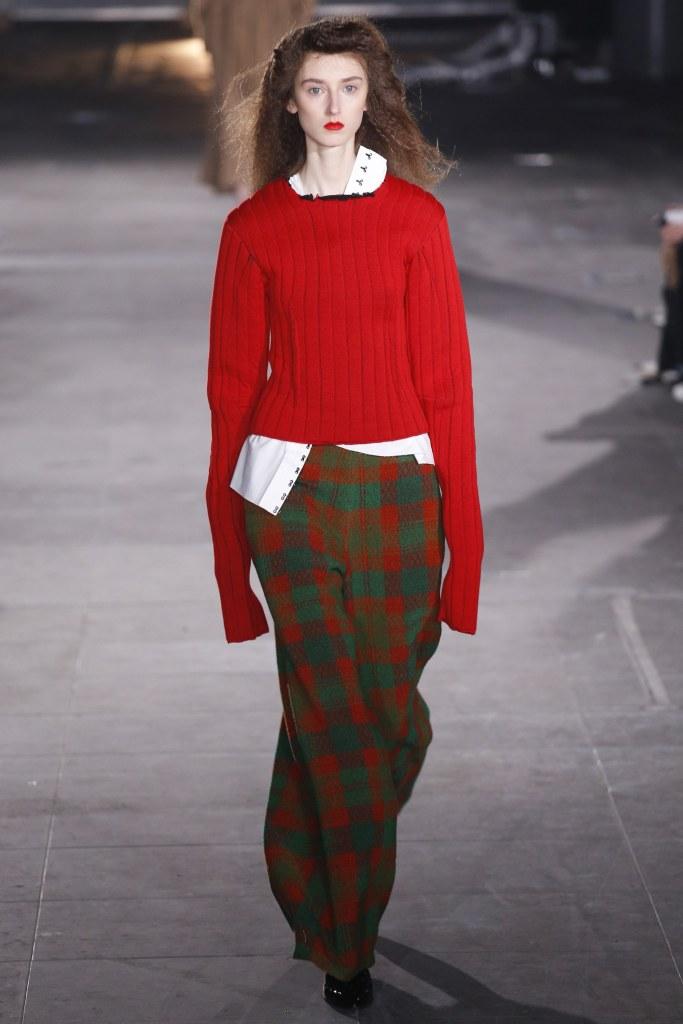 High fashion knitwear - a red sweater