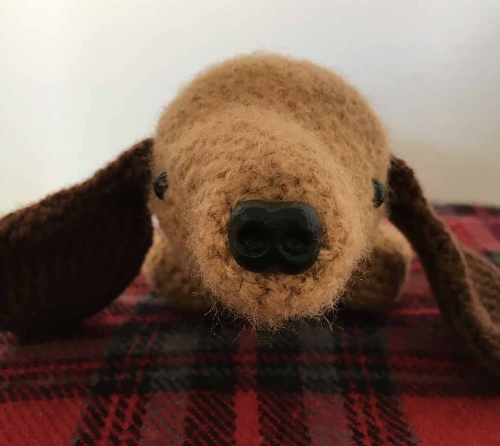 Cute nose for crocheted amigurumi dog