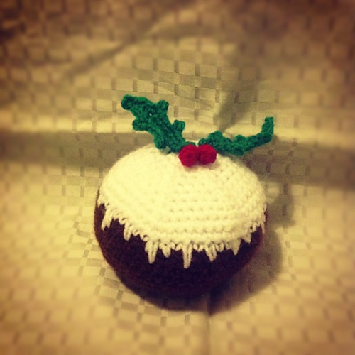 Amigurumi crochet christmas pudding