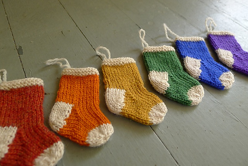 Knitted Christmas Stocking Ornament