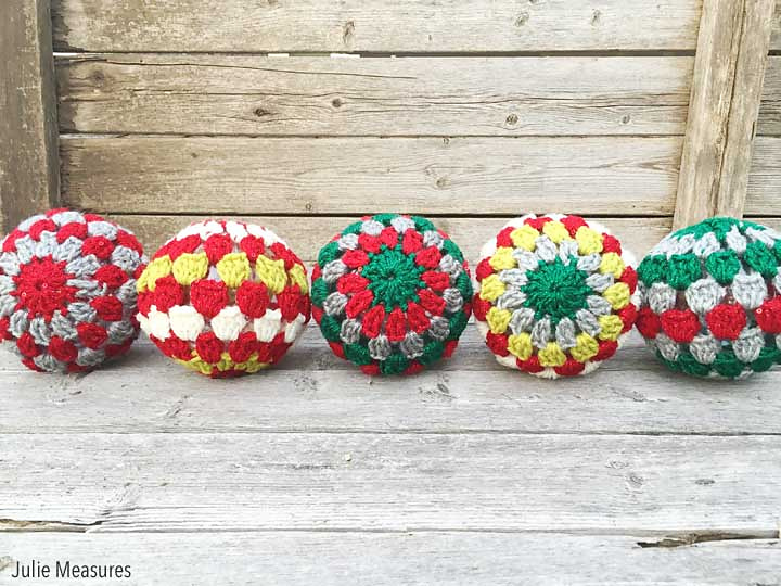 granny square crochet christmas ornaments