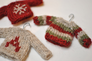 tiny knitting sweaters christmas decorations