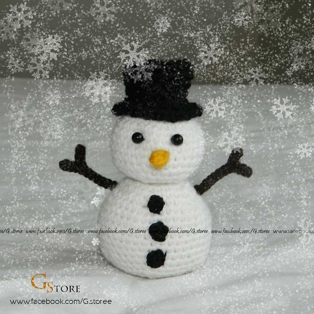 Snowman crochet christmas pattern