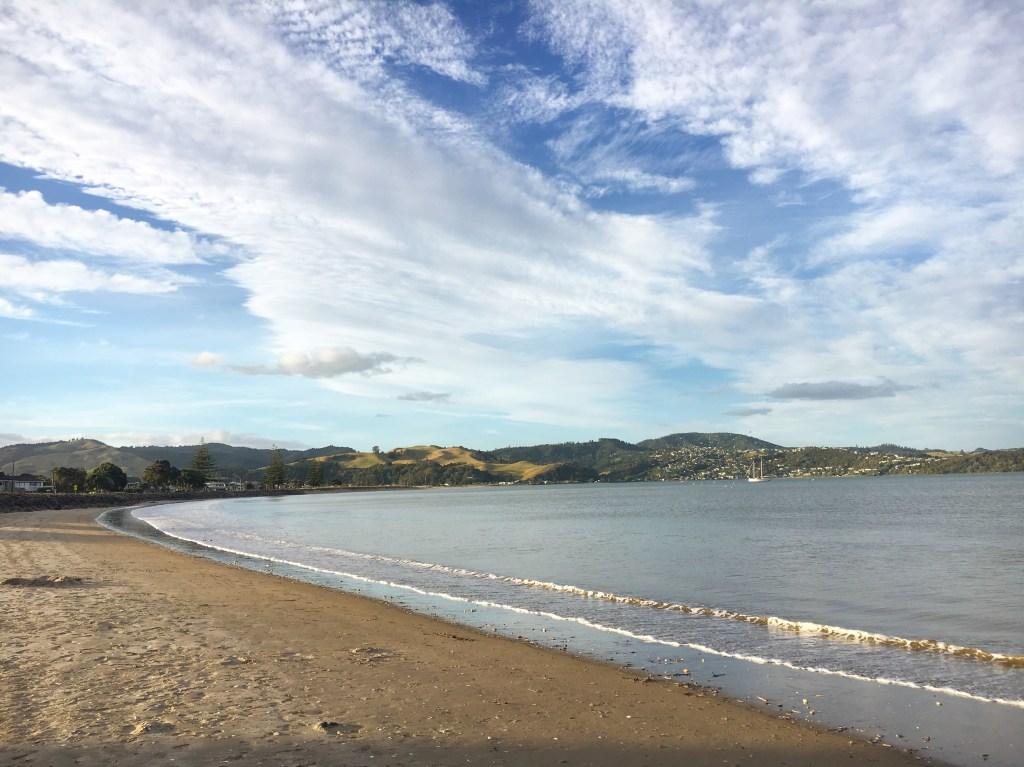 Empty white beach in the Coromandal, New Zealand