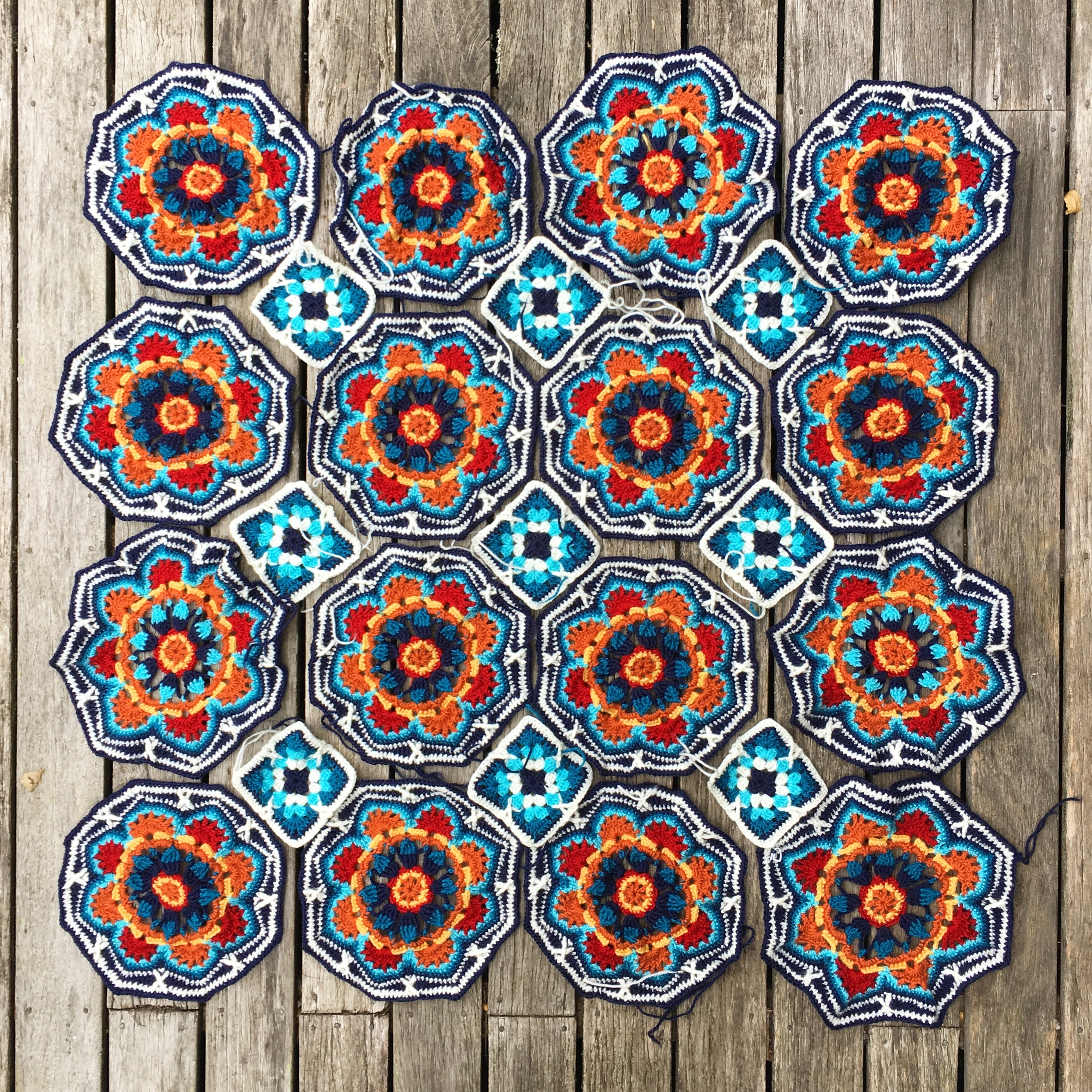 Persian Tiles Blanket – Progress!