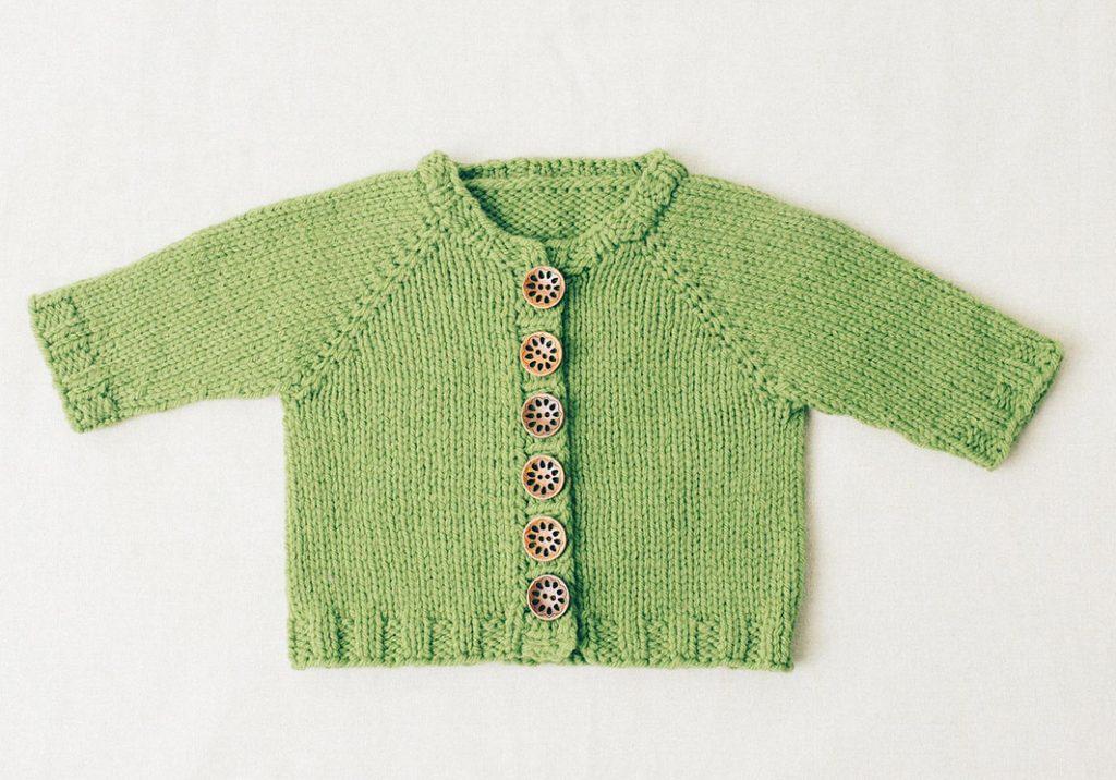 Basic baby cardigan