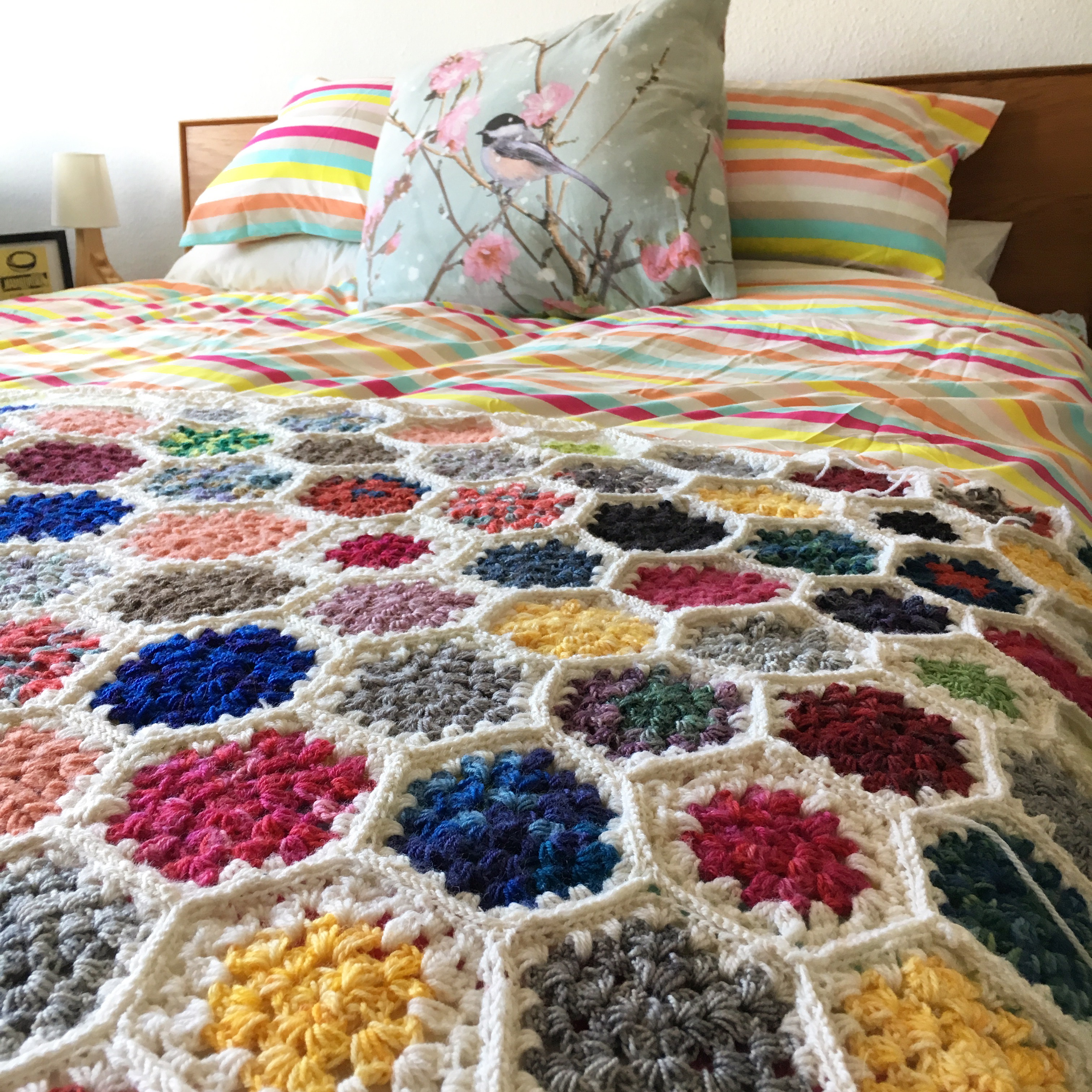 The Big Ugly: My Granny Hexagon Crochet Blanket