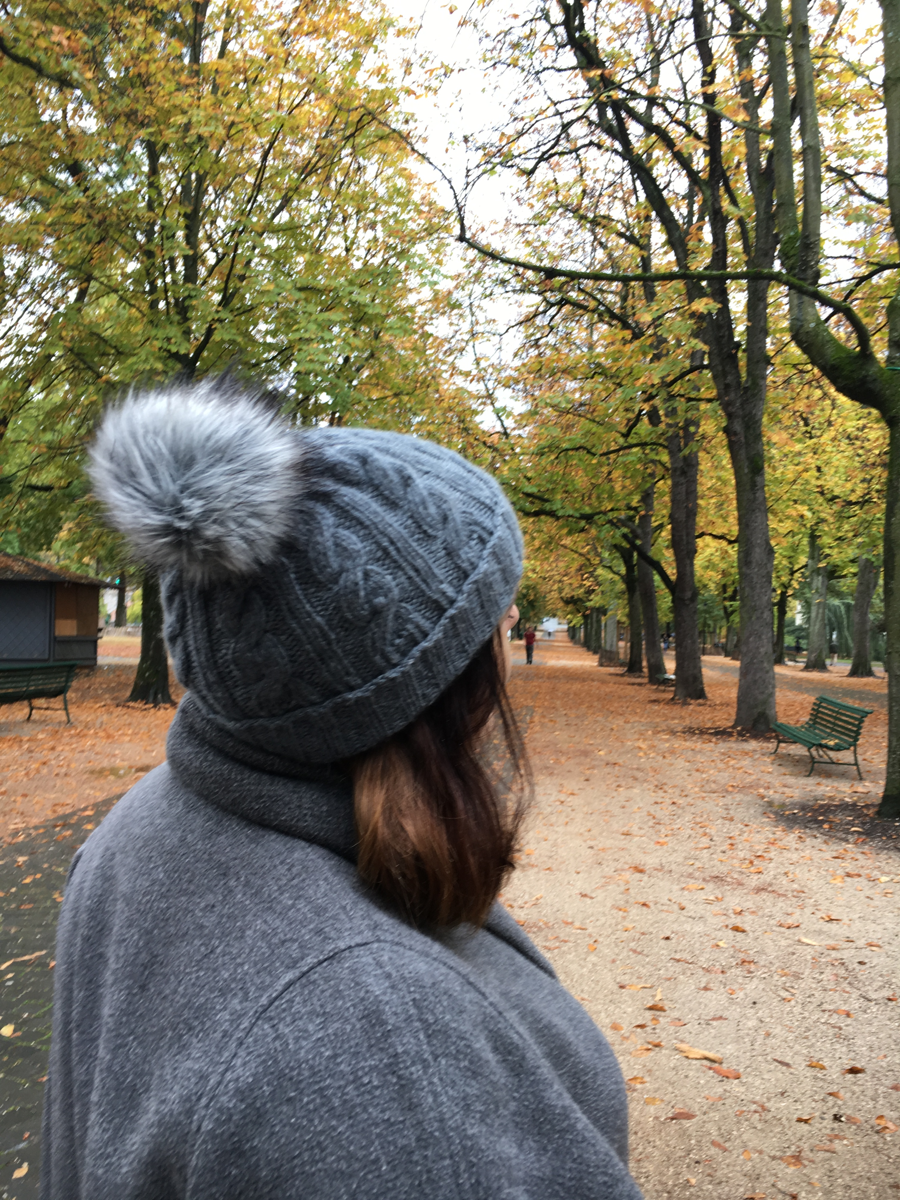 Cable knit beanie with fur pompom (+ the free knitting pattern I used)