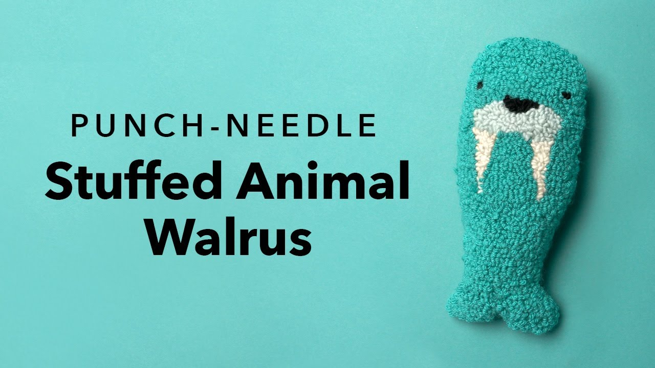 How to make a punch needle stuffed animal