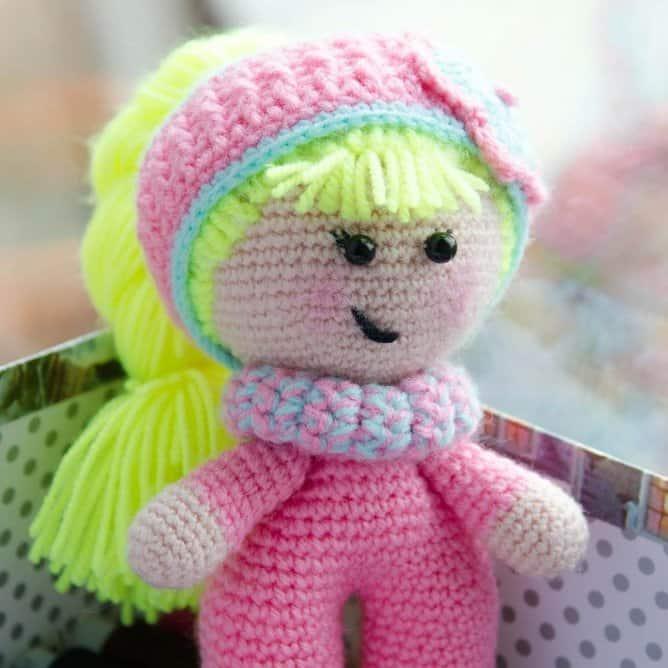 Baby doll amigurumi crochet pattern free