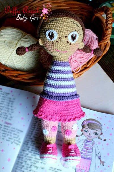 Free McStuffins doll crochet pattern