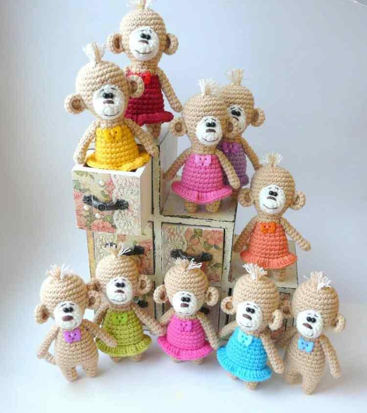 Amigurumi crochet monkey pattern free