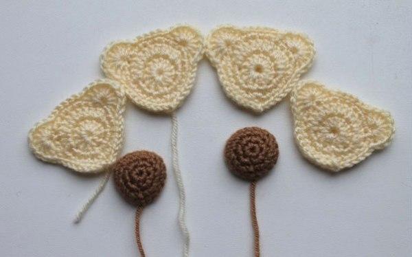 Crochet bear hair ties free pattern