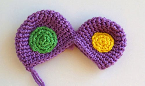 Crochet butterfly rattle