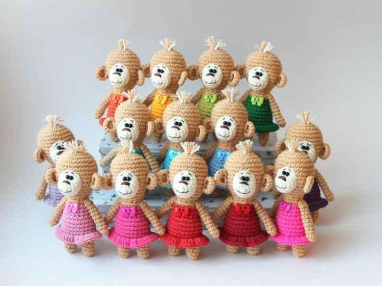 Crochet monkey pattern free
