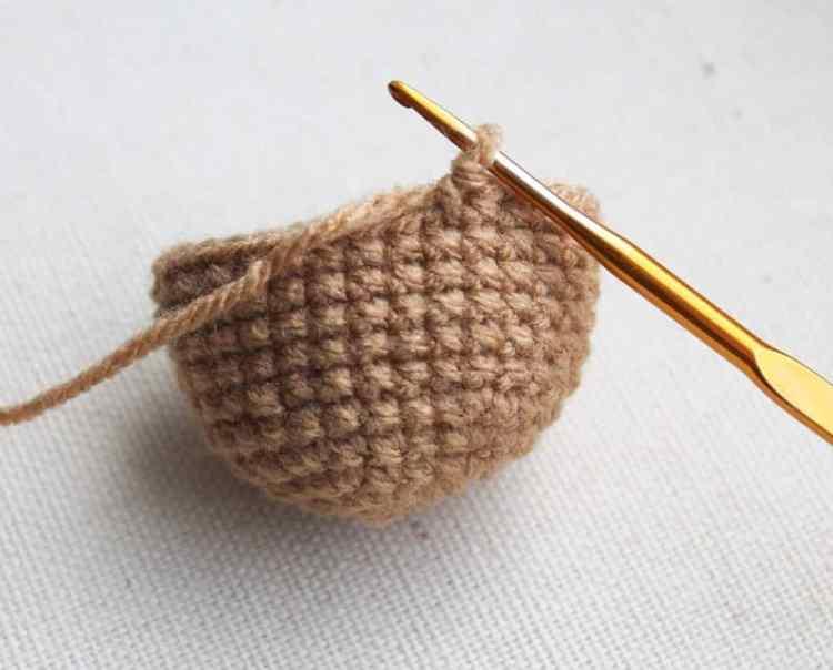 Free crochet monkey pattern - body