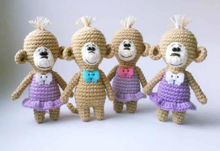 Free crochet monkey pattern