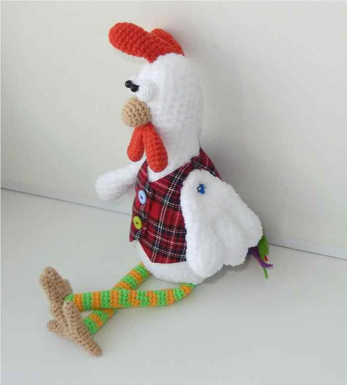 Funny rooster crochet pattern