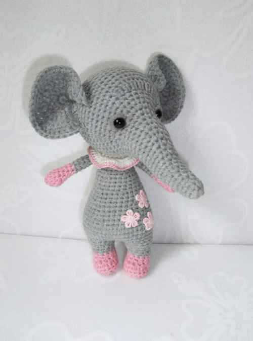Baby elephant amigurumi pattern