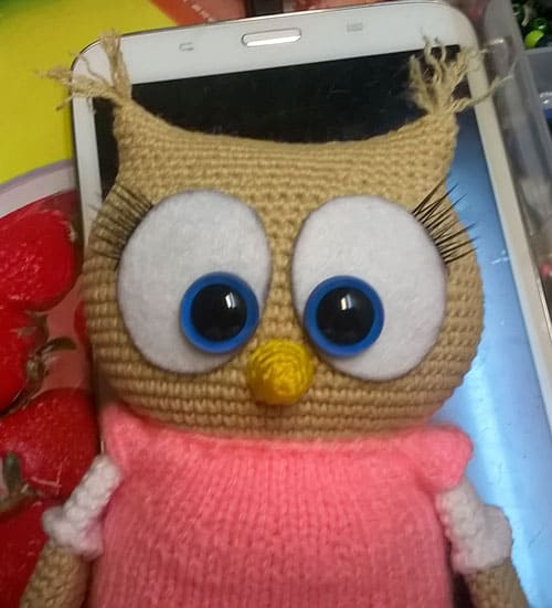 Owl in dress - free amigurumi pattern