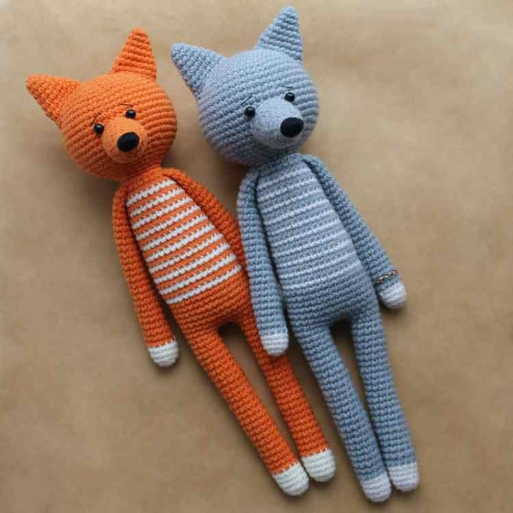Long-legged amigurumi toys - Free crochet pattern
