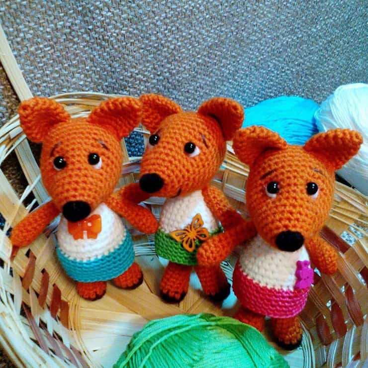 Tiny fox crochet pattern