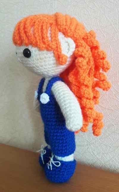 Julie doll amigurumi pattern - free