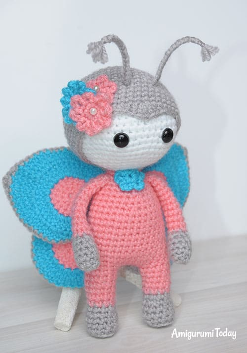 Amigurumi doll in butterfly costume pattern / tutorial