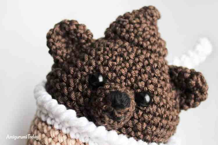 Crochet creamy choco bear amigurumi pattern