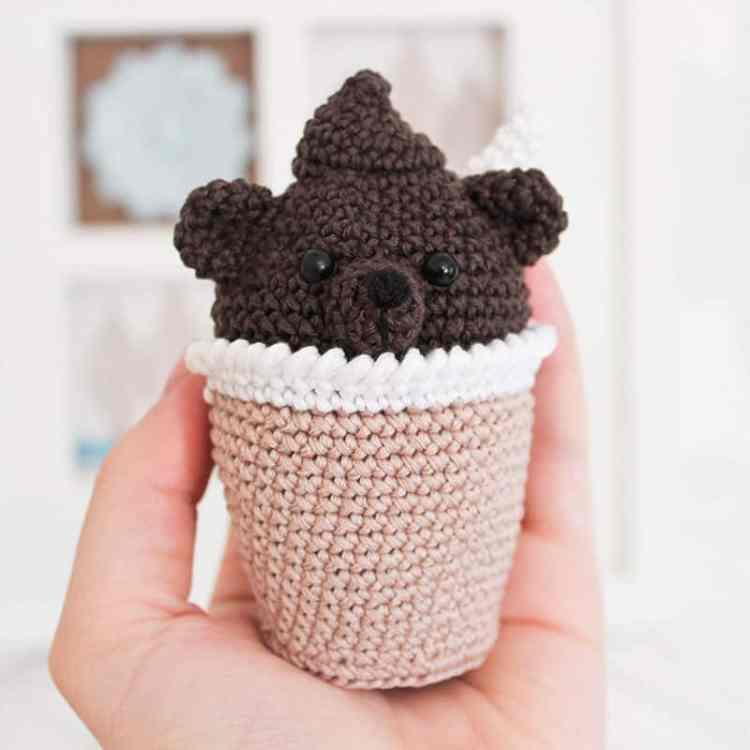 Crochet creamy choco bear - free amigurumi pattern
